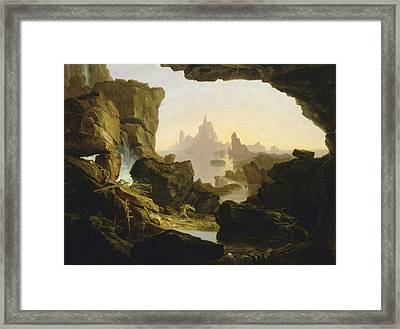 The Subsiding Of The Waters Of The Deluge Framed Print by Thomas Cole