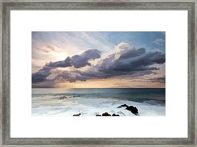 The Sun Looking Down Framed Print