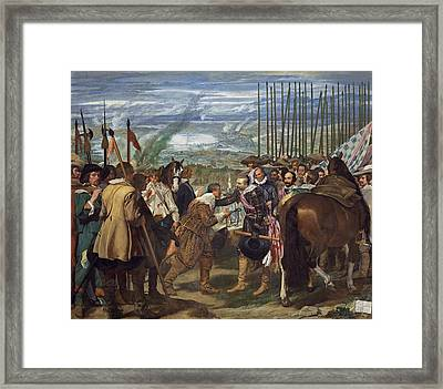 The Surrender Of Breda Framed Print