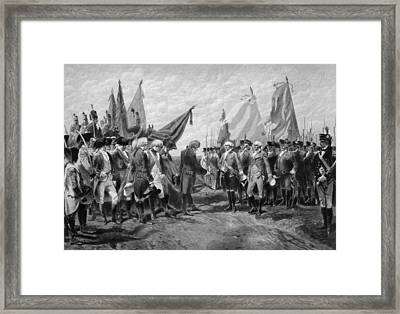 The Surrender Of Cornwallis At Yorktown Framed Print