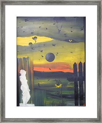 The Survivor Framed Print by Zsuzsa Sedah Mathe