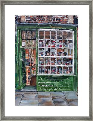 The Sweet Shop Framed Print by Victoria Heryet