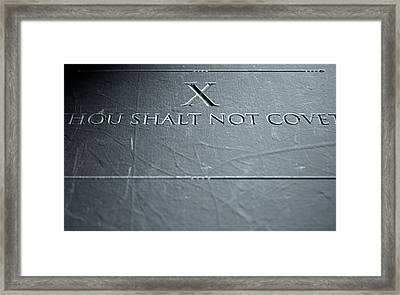 The Tenth Commandment Framed Print