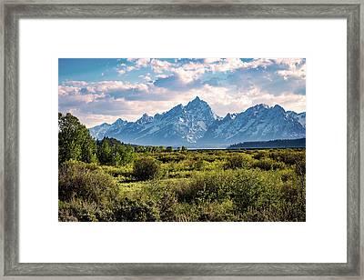 The Teton Mountains Framed Print