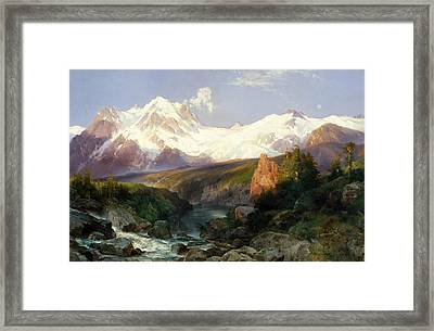The Teton Range Framed Print