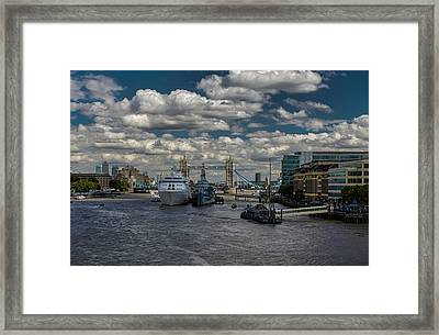The Thames London Framed Print by Martin Newman
