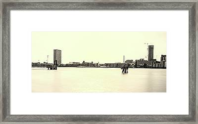 The Thames Framed Print by Martin Newman