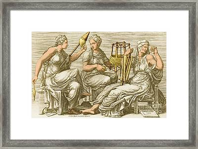 The Three Fates Framed Print by Photo Researchers