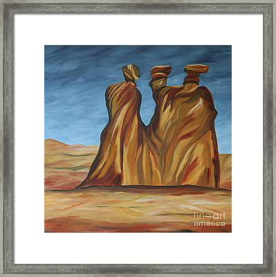 The Three Gossips Framed Print by Christiane Schulze Art And Photography