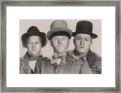 The Three Stooges Hollywood Legends Framed Print by John Springfield