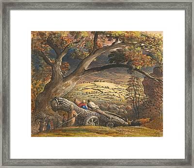 The Timber Wain Framed Print by Samuel Palmer