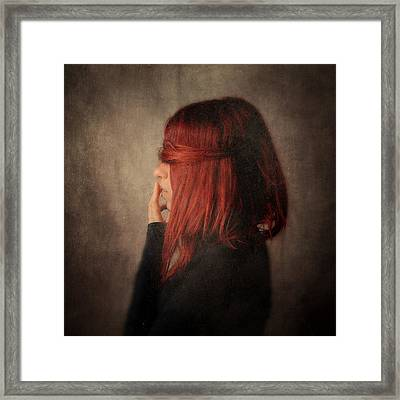 The Touch Framed Print by Violet Gray