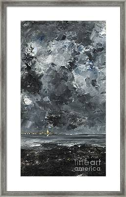The Town Framed Print by August Johan Strindberg