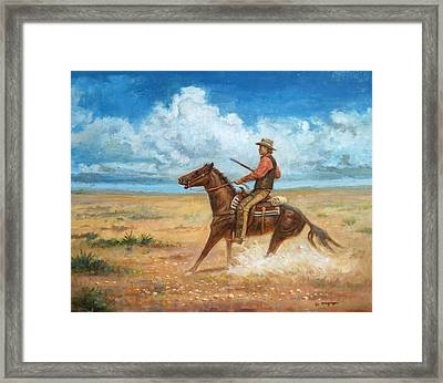 The Tracker Framed Print
