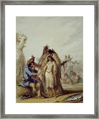 The Trapper's Bride Framed Print