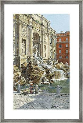 The Trevi Fountain In Rome Framed Print by MotionAge Designs