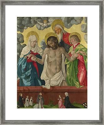 The Trinity And Mystic Pieta Framed Print