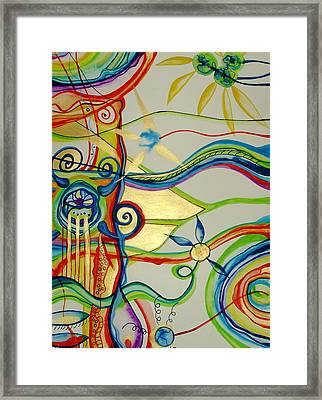 Framed Print featuring the painting The Trip Factory by Erika Swartzkopf
