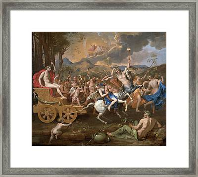 The Triumph Of Bacchus Framed Print