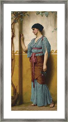 The Trysting Place Framed Print by John William Godward