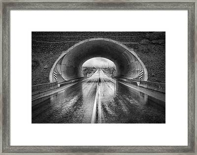 The Tunnel Framed Print