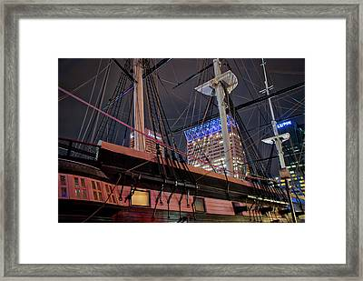 Framed Print featuring the photograph The Uss Constellation by Mark Dodd