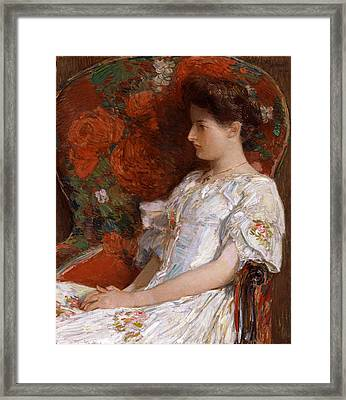The Victorian Chair Framed Print by Childe Hassam