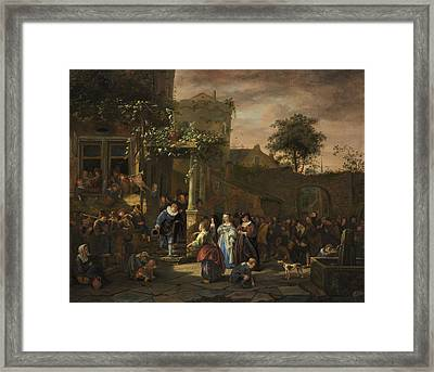 The Village Wedding Framed Print