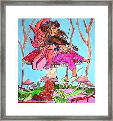 The Violinist Fairy Framed Print
