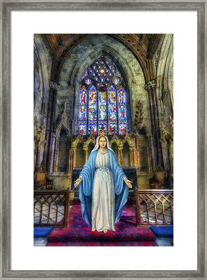 The Virgin Mary Framed Print by Ian Mitchell