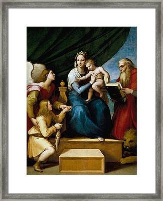 The Virgin With A Fish Framed Print