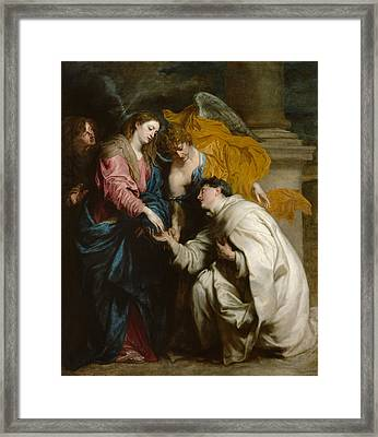 The Vision Of The Blessed Hermann Joseph Framed Print