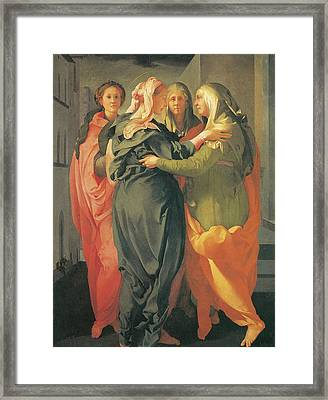 The Visitation Framed Print by Jacopo Da Pontormo