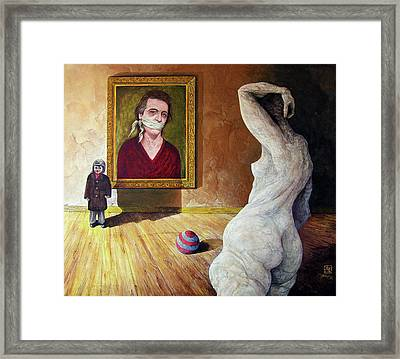The Visitor Framed Print by Otto Rapp