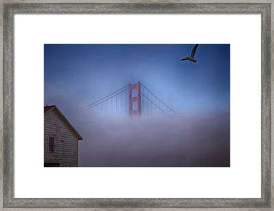 Framed Print featuring the photograph The Warming Hut by Michael Hope