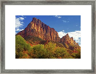 The Watchman Framed Print by Raymond Salani III