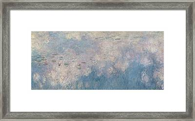 The Waterlilies  The Clouds Framed Print