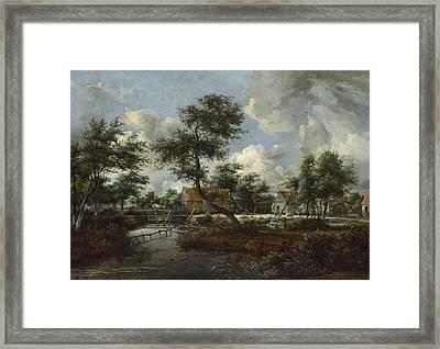 The Watermills At Singraven Near Denekamp Framed Print