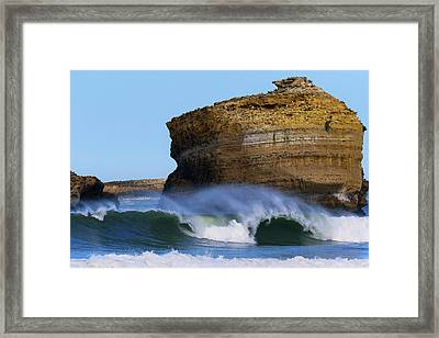 The Wave Framed Print by Thierry Bouriat