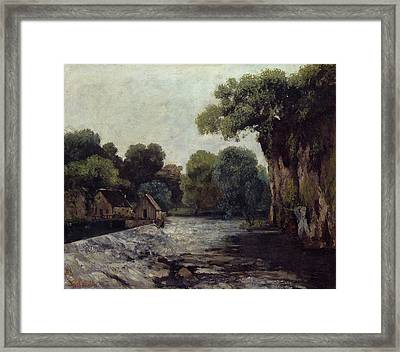 The Weir At The Mill Framed Print