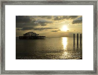 The West Pier Framed Print