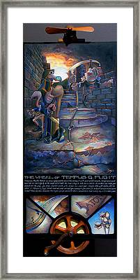 The Wheel Of Tempus Q. Fugit Framed Print by Patrick Anthony Pierson