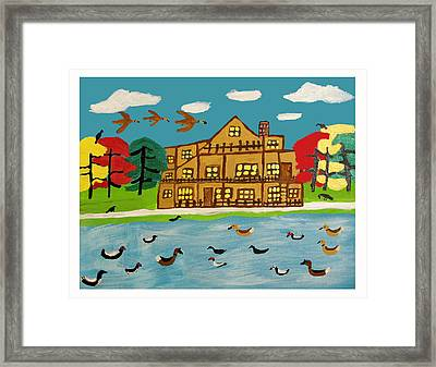 The Wildlife Hotel Framed Print by Betty  Roberts