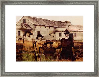 The Woodbine Turned Red Framed Print