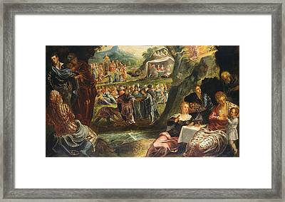 The Worship Of The Golden Calf Framed Print