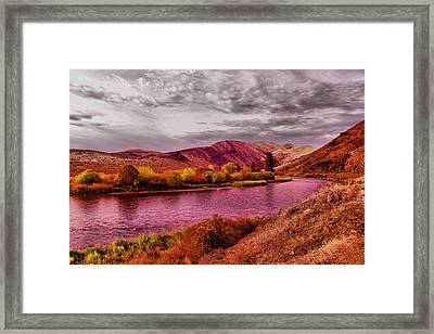 Framed Print featuring the photograph The Yakima River by Jeff Swan
