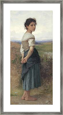 The Young Shepherdess Framed Print by Adolphe