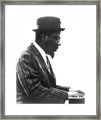 Thelonius Monk 1917-1982jazz Pianist Framed Print