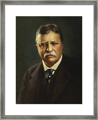 Theodore Roosevelt - President Of The United States Framed Print
