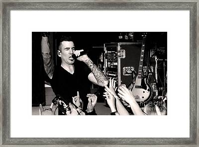Theory Of A Deadman Tyler Connolly Framed Print